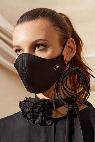 FACE COVERING WITH LOGO IN BLACK