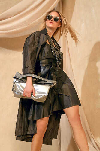 YOU TAFFETA MINI DRESS WITH SQUARE NECK